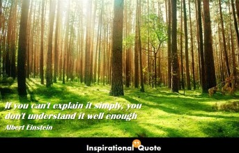 Albert Einstein – If you can't explain it simply, you don't understand it well enough