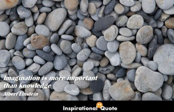 Albert Einstein – Imagination is more important than knowledge